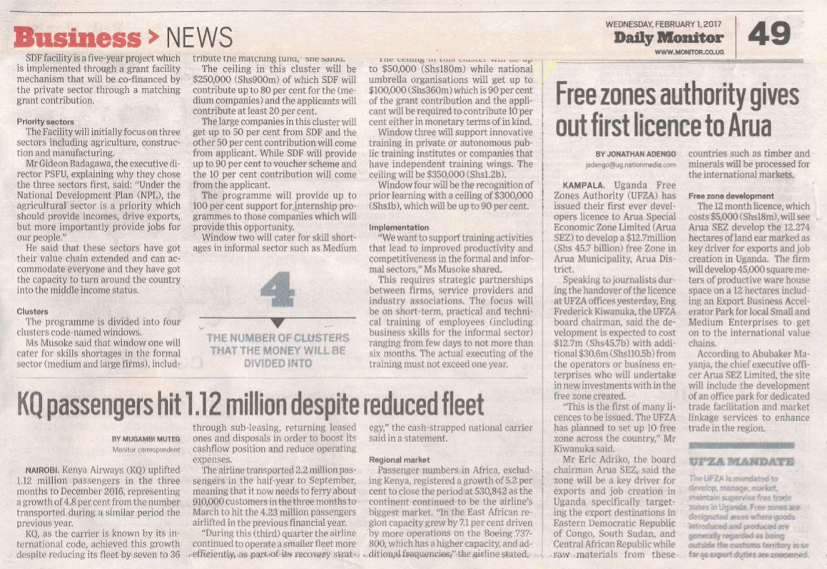 Arua Free Zones Article