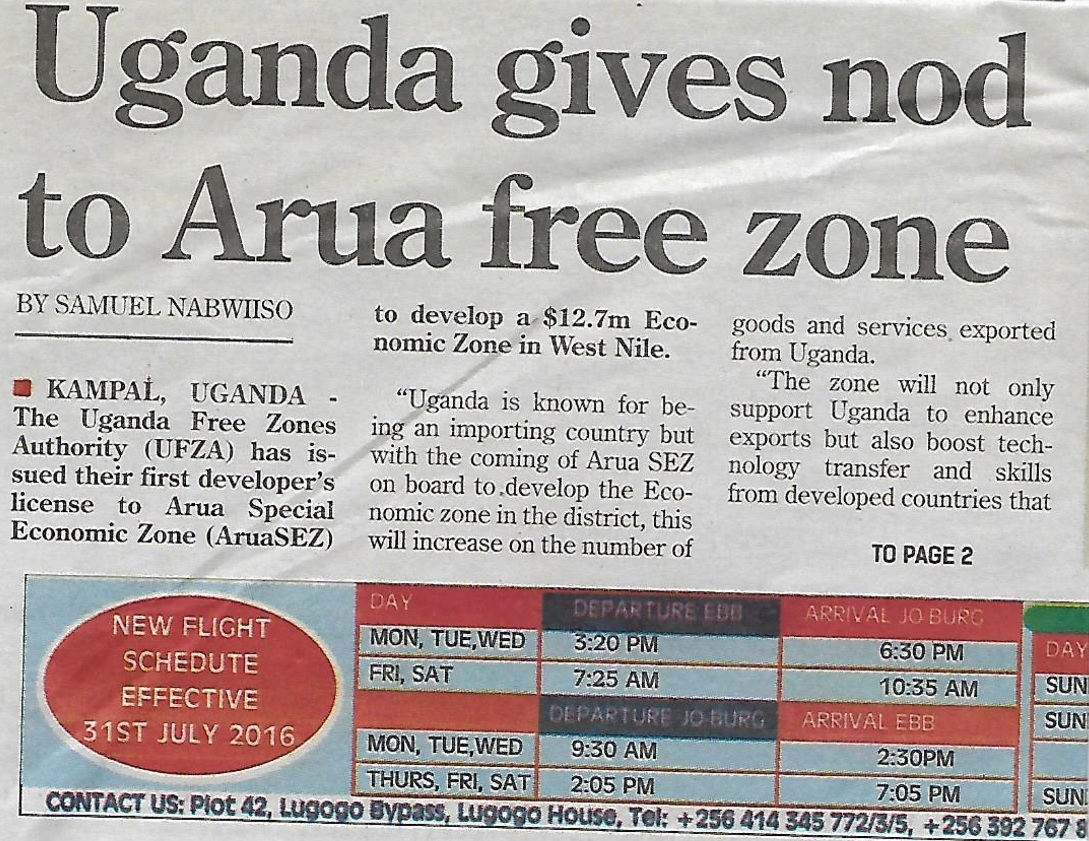 Arua Free Zones Article31